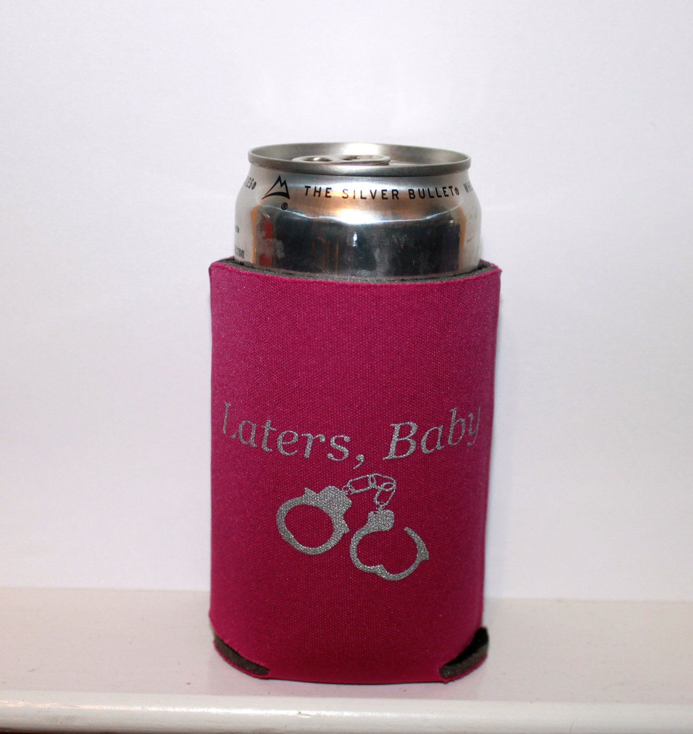 Fuschia Or Black Bachelorette Party Idea Fifty Shades Of Grey Koozie Laters Baby Cozy Bee Fifty Shades Party Ideas Black Bachelorette Party Bachelorette Party
