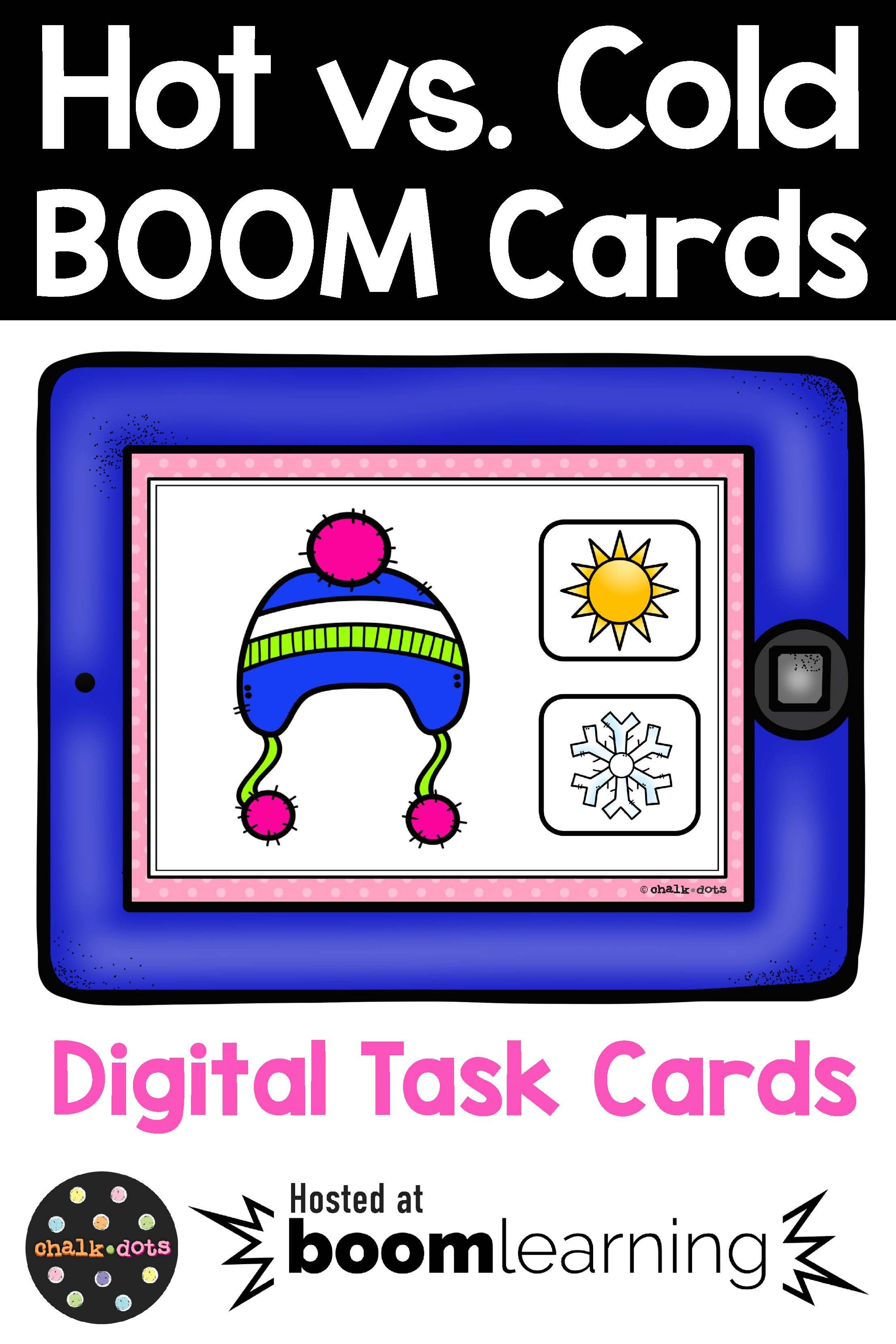Hot Vs Cold Weather Clothing Boom Cards In