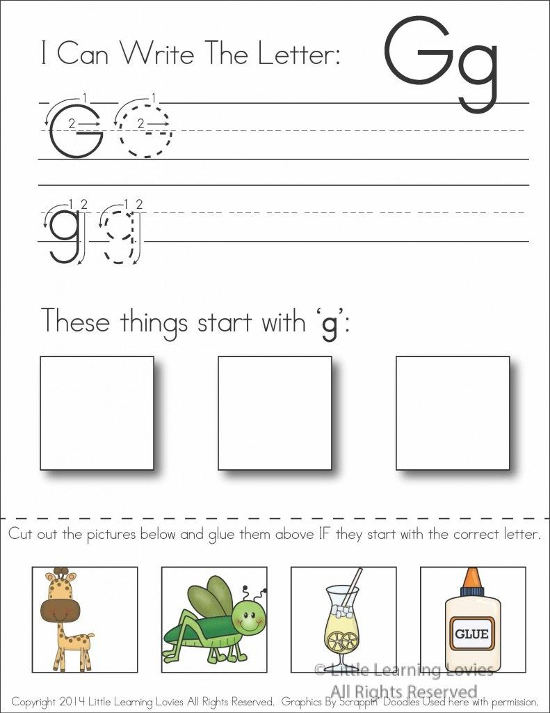 Worksheets Cut And Paste Alphabet Worksheets worksheet learning the letter g wosenly free 1000 images about gg on pinterest putt giraffe crafts and