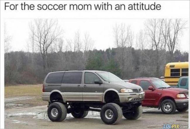 Soccer Mom With An Attitude Soccer Mom Soccer Mom Meme Funny Mom Memes
