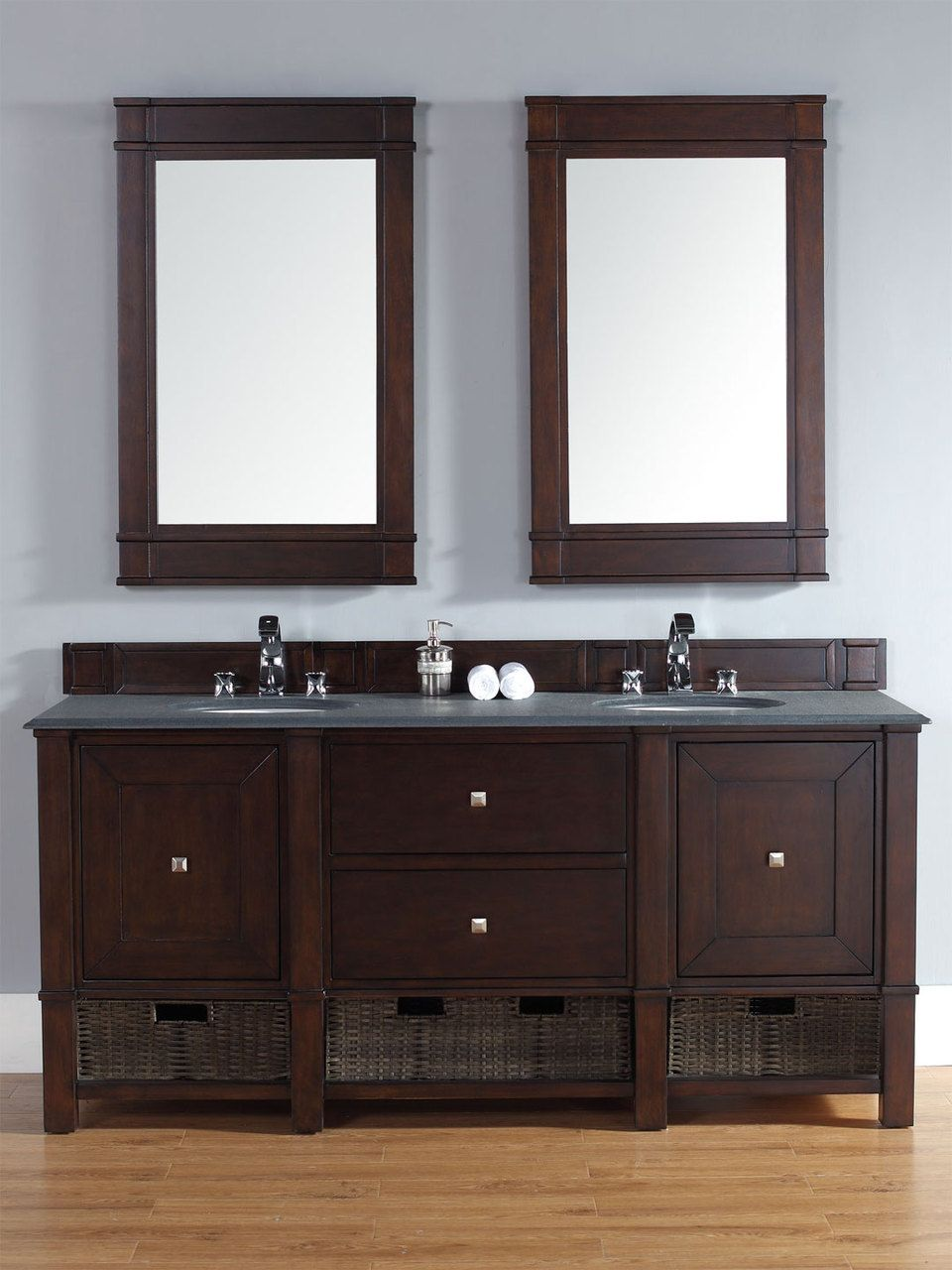 Abstron 72 Inch Mahogany Finish Bathroom Vanity Stone Countertop Options
