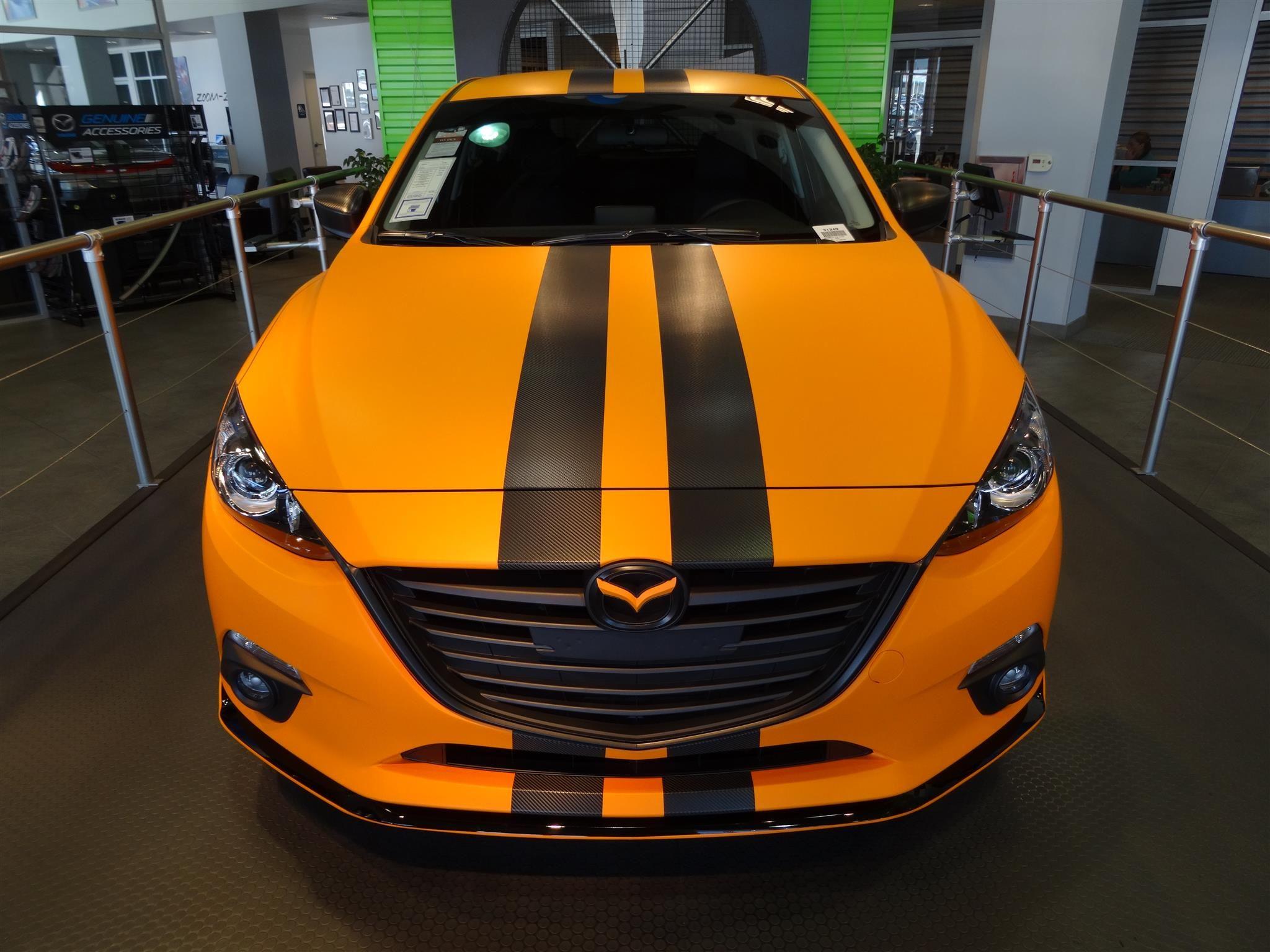 2015 Mazda 3 Touring For Sale In Riverside Ca Mazda Riversidemazda Mazda3 Orange Bodywrap Carbonfiber Cu Mazda 3 Touring Mazda 3 Hatchback Mazda 3