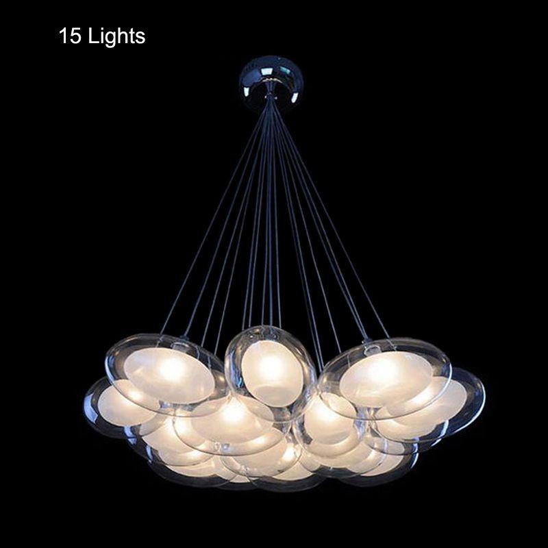 Cheap Lampadari moderni 15 luci led lampadine g4 incluso vetro smerigliato finitura argento 90     -> Lampadari Con Lampadine A Led