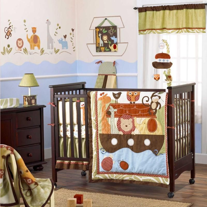 noah u0026 friends 6 piece baby crib bedding set by cocalo image coc7035972