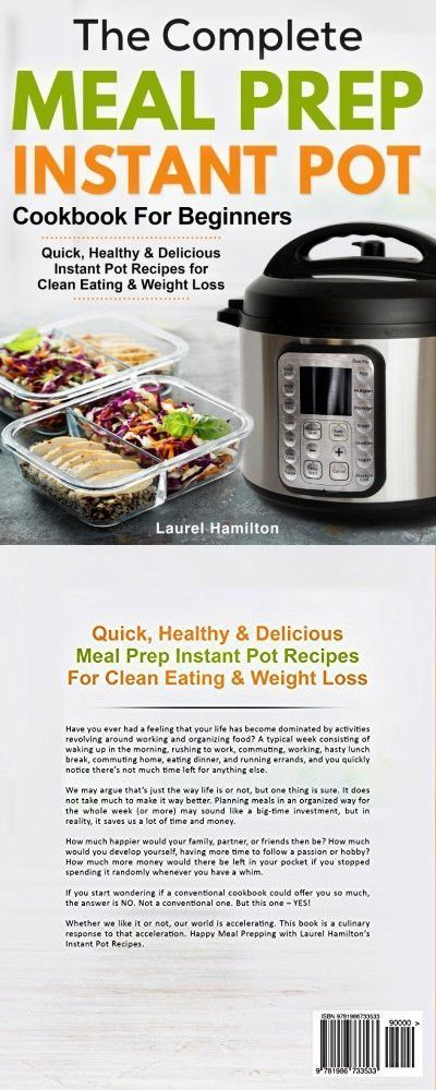 The Complete Meal Prep Instant Pot Cookbook for Beginners: Quick Healthy and Delicious Instant Pot Recipes for Clean Eating & Weight Loss #cleaneatingforbeginners The Complete Meal Prep Instant Pot Cookbook for Beginners: Quick Healthy and Delicious Instant Pot Recipes for Clean Eating & Weight Loss #cleaneatingforbeginners