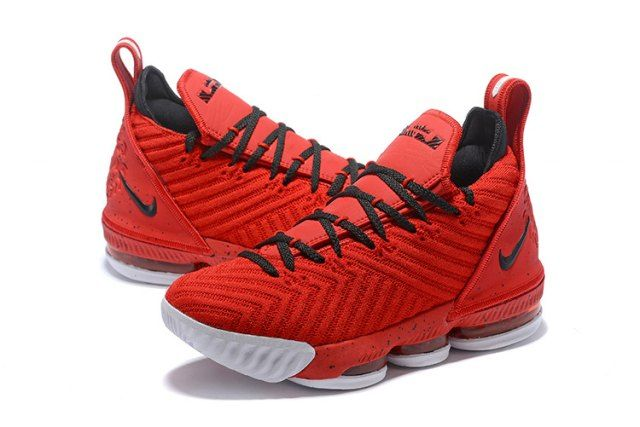 8f1a0890a94 Excitement Nike LeBron 16 Red Black Men s Basketball Shoes James Trainers