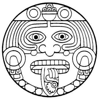 Calendar Coloring Mayan Pages 2020 Em 2020 Tatuagem Inca