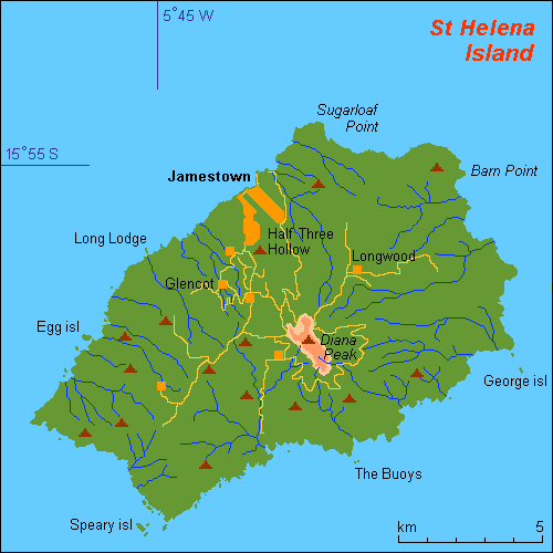 Another Map Of St Helena Saint Helena Ascension And Tristan Da - Tristan da cunha map