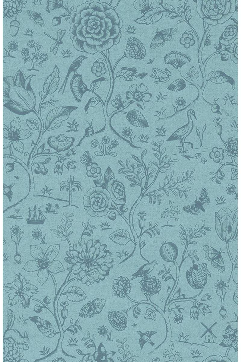 Spring To Life Two Tone Wallpaper Sea Blue Brewster Wallpaper Pattern Wallpaper Pip Studio
