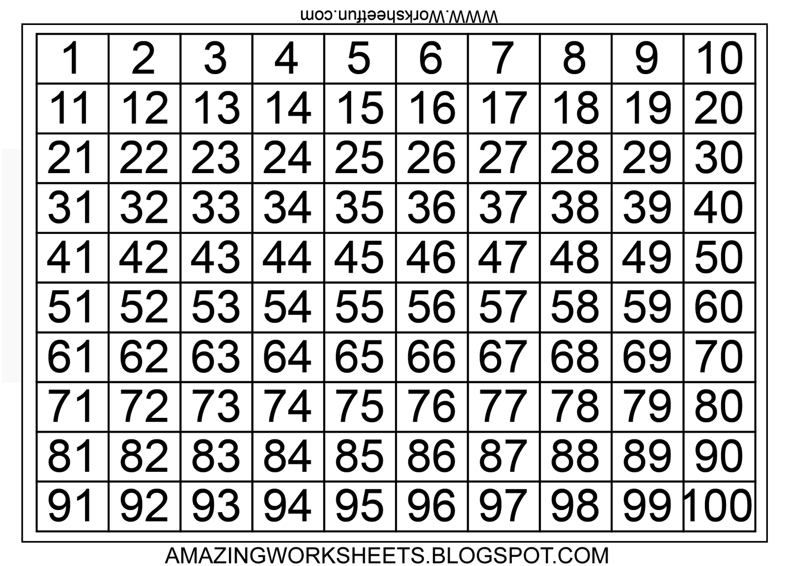Exceptional image in free large printable numbers 1 100