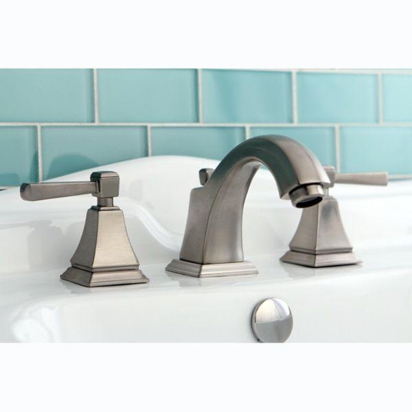 Satin Nickel Widespread Centerset Bathroom Faucet   Bathroom ...