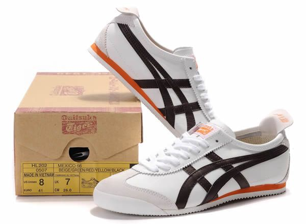 Asics Onitsuka Tiger Mexico 66 Blanc Beige Marron Orange - Homme