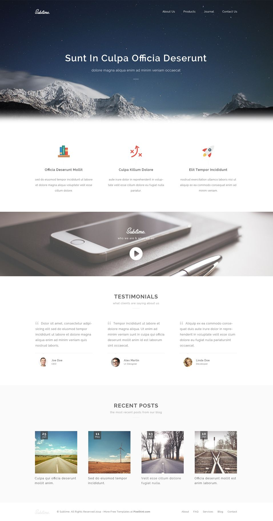 Sublime – Free Stunning PSD Template   Templates   Pinterest