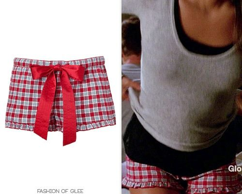 Rachel's 'Don't Speak' pajamas were cute, albeit a little unusual. Plaid ruffle shortie shorts, and the gray sweater she wore last episode for her dinner date with Brody? Juicy Couture Plaid Flannel Boxer Short - No longer available Worn with: Helmut Lang sweater