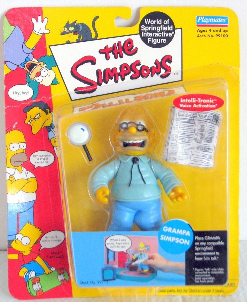 The simpsons world of springfield figure series 1 playmates grampa 2000