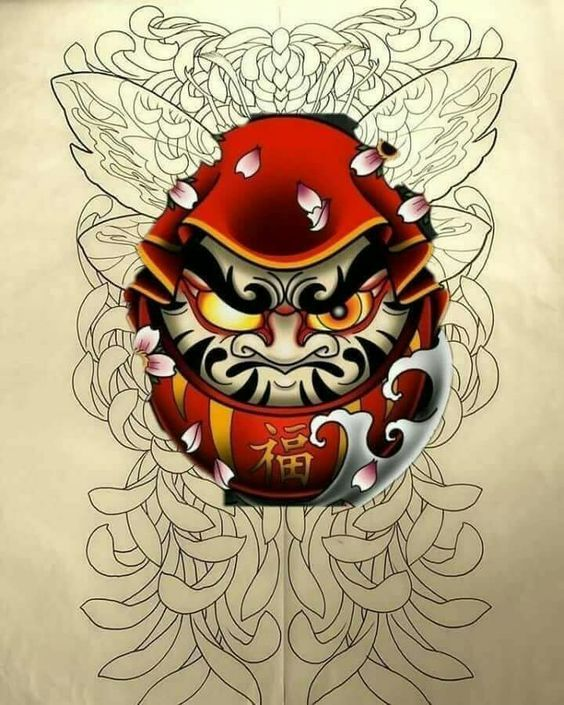 ป กพ นในบอร ด Daruma Tattoo