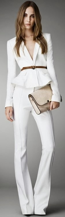 Beautiful Burberry white suit