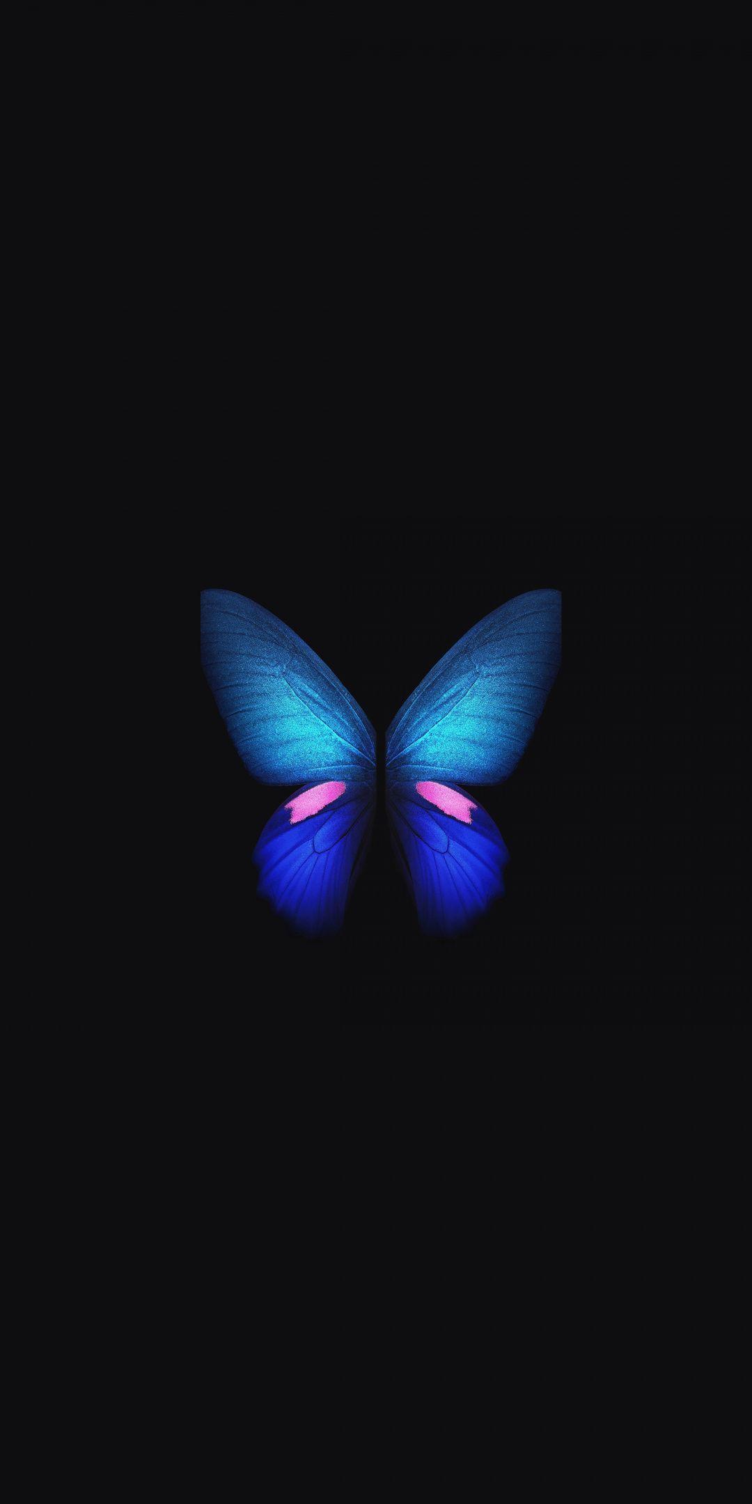 Samsung Galaxy Fold Blue Butterfly Minimal Art 1080x2160 Wallpaper Butterfly Wallpaper Iphone Blue Butterfly Wallpaper Blue Galaxy Wallpaper