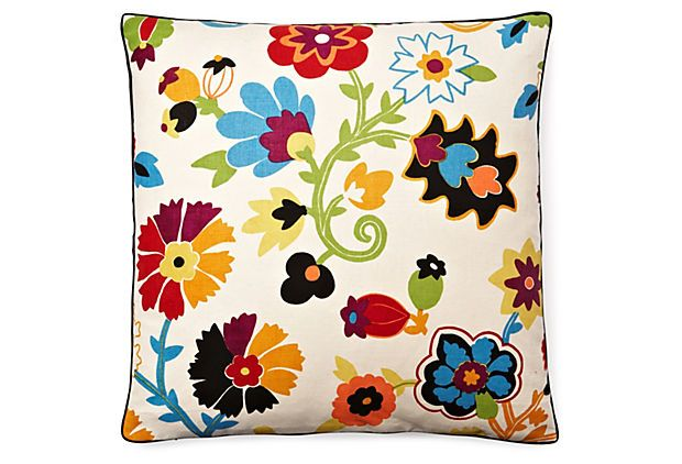 Tropic Flower 24x24 Pillow, Multi on OneKingsLane.com