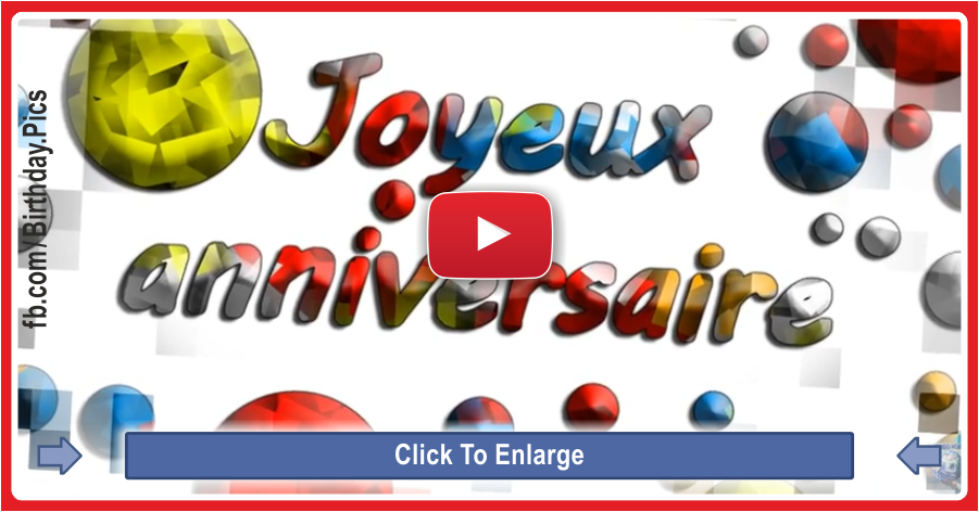 Joyeux Anniversaire Happy Birthday French Version Song With