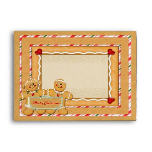 Gingerbread greetings envelope fits 5x7 cards envelope christmas gingerbread greetings envelope fits 5x7 cards envelope m4hsunfo