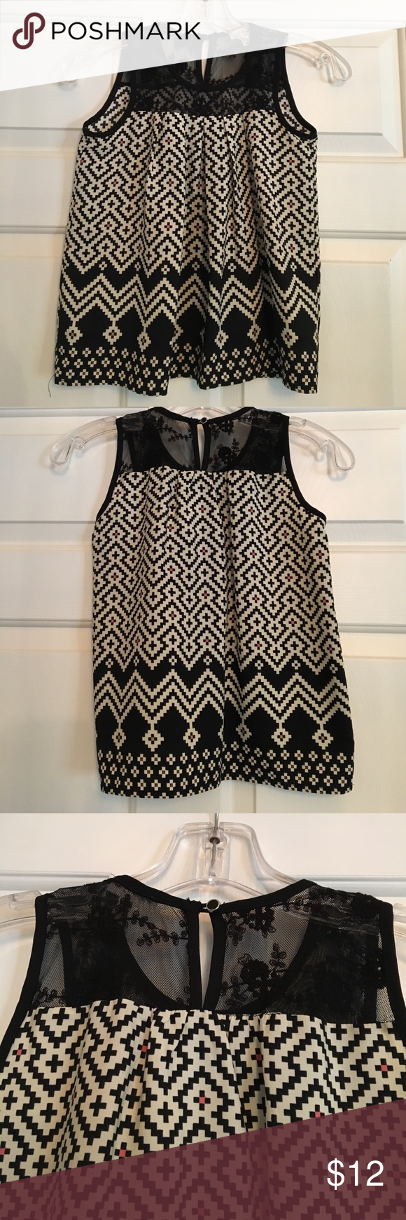 M boutique lace dress  Girlus boutiquestyle tank Size M  Lace detail at top Single