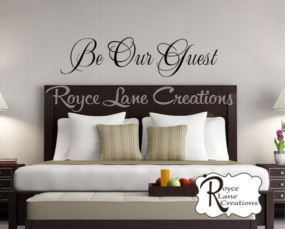Be Our Guest Decal Be Our Guest Wall Decal Guest Room Decor