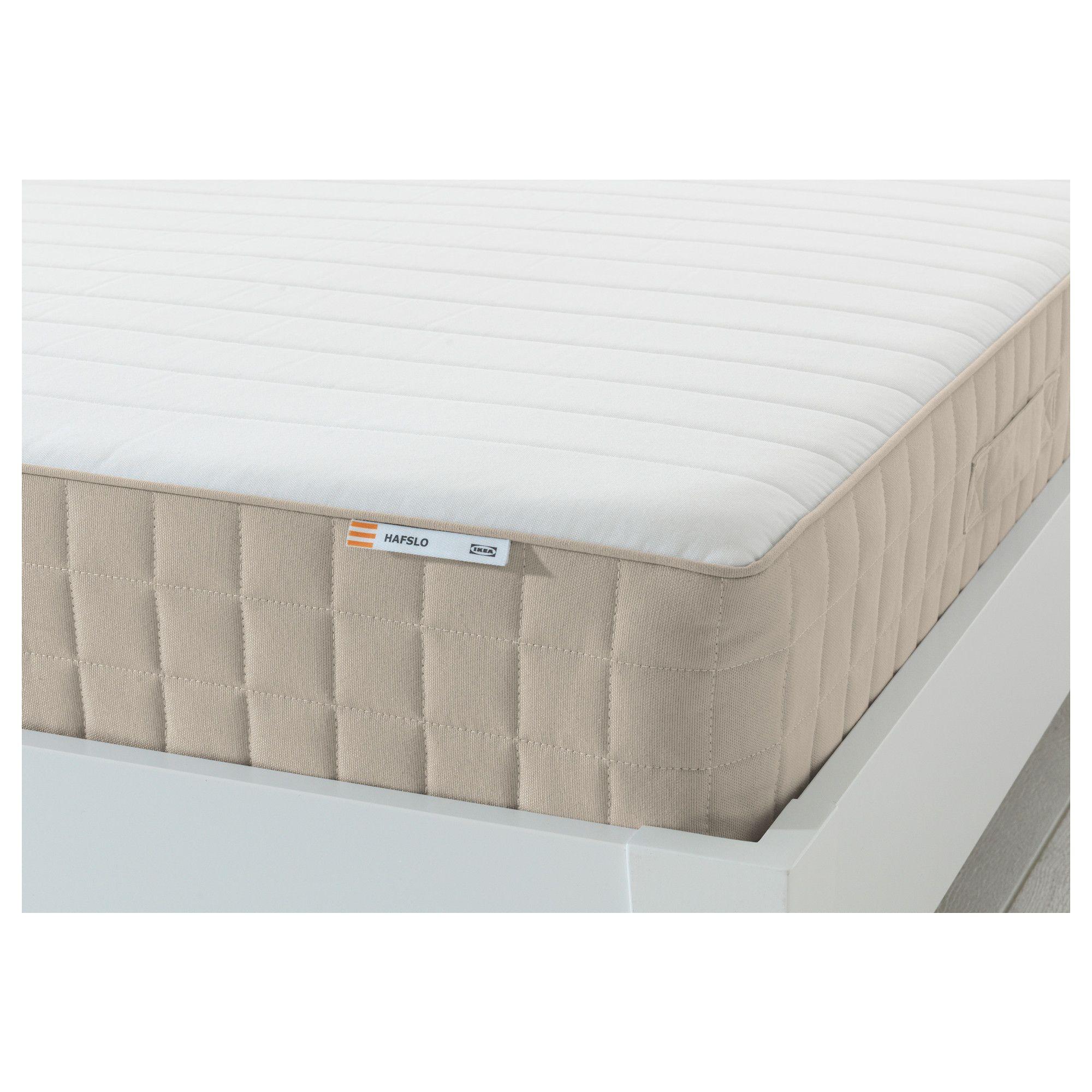 ikea hafslo colch o de molas 140x200 cm firme bege as molas bonnell oferecem um bom. Black Bedroom Furniture Sets. Home Design Ideas