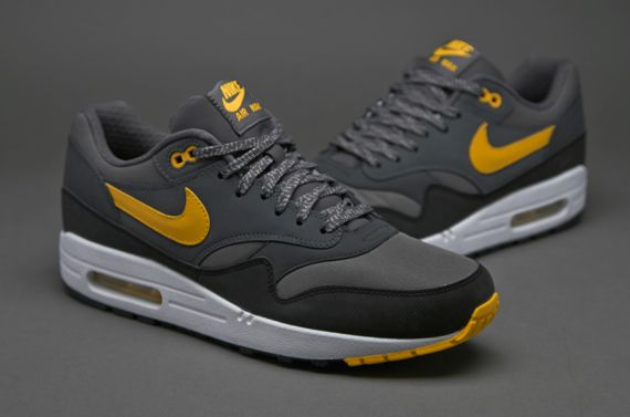 timeless design 6b8ae d38ad Nike Air Max 1 Essential - Mens Select Footwear - Dark Grey Laser Orange  Anthracite Black