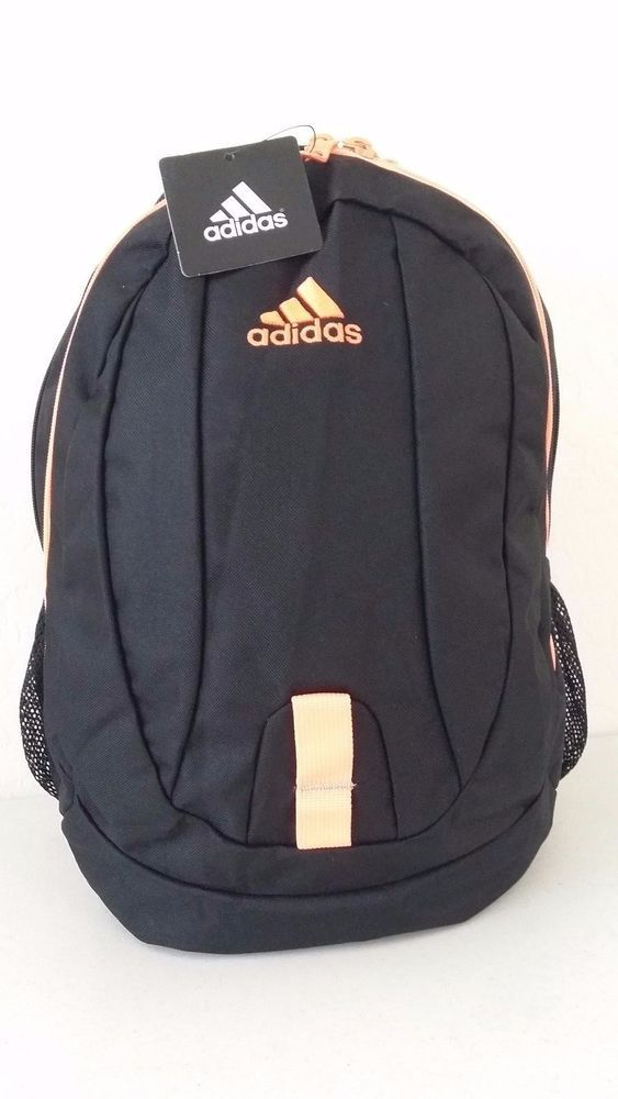 NWT ADIDAS JOURNAL Black Ultra Bright Backpack School Book Laptop Tablet Gym Bag #adidas #Backpack #ebay #adidas #Backpack
