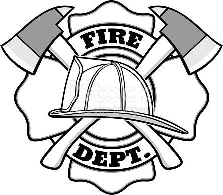 Fire Department Fire Fighter Logo Outdoor Vinyl Silhouette