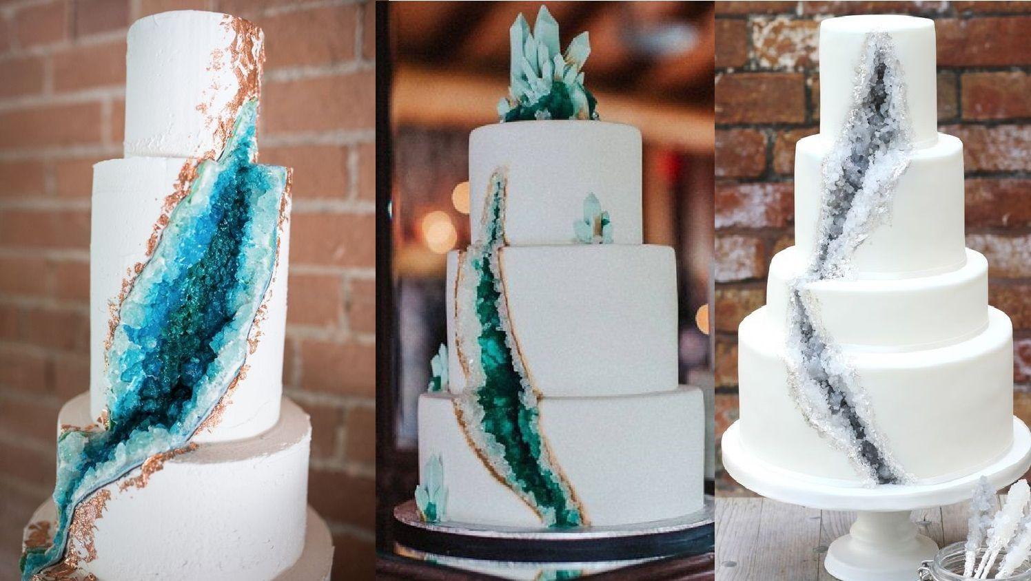 Kue Pengantin dengan Dekorasi Kristal yang Memikat Hati