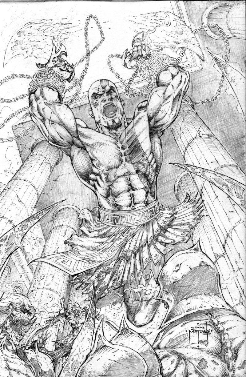 Kratos God Of War Attacks By Jman 3h Com Imagens Arte Manga