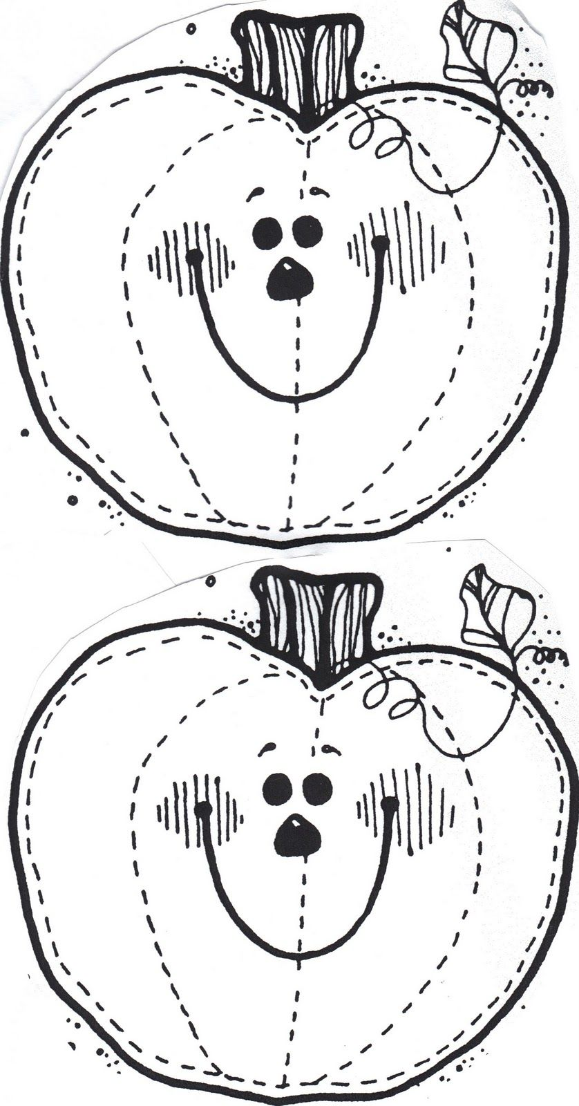 faceless pumpkin coloring pages - photo#33