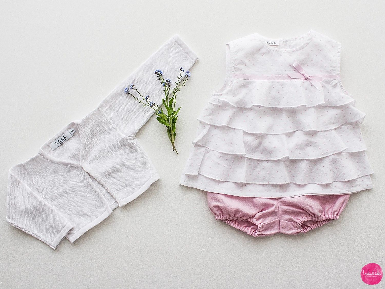 2 Teiliges Outfit Kurze Hose Leinen Rosa Punkte Weiße