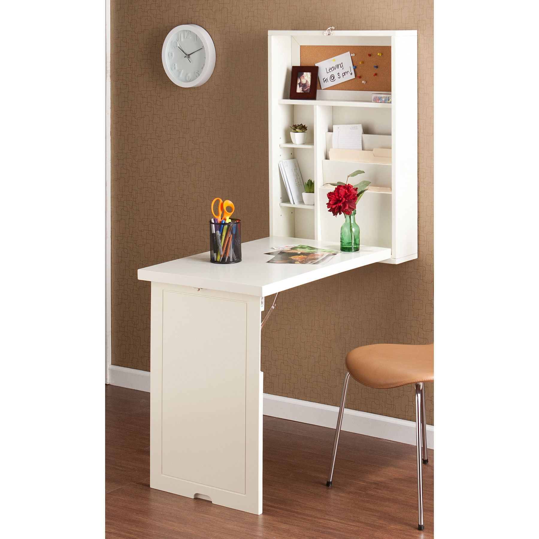 Home Etc Floating Desk With Hutch & Reviews - Wayfair