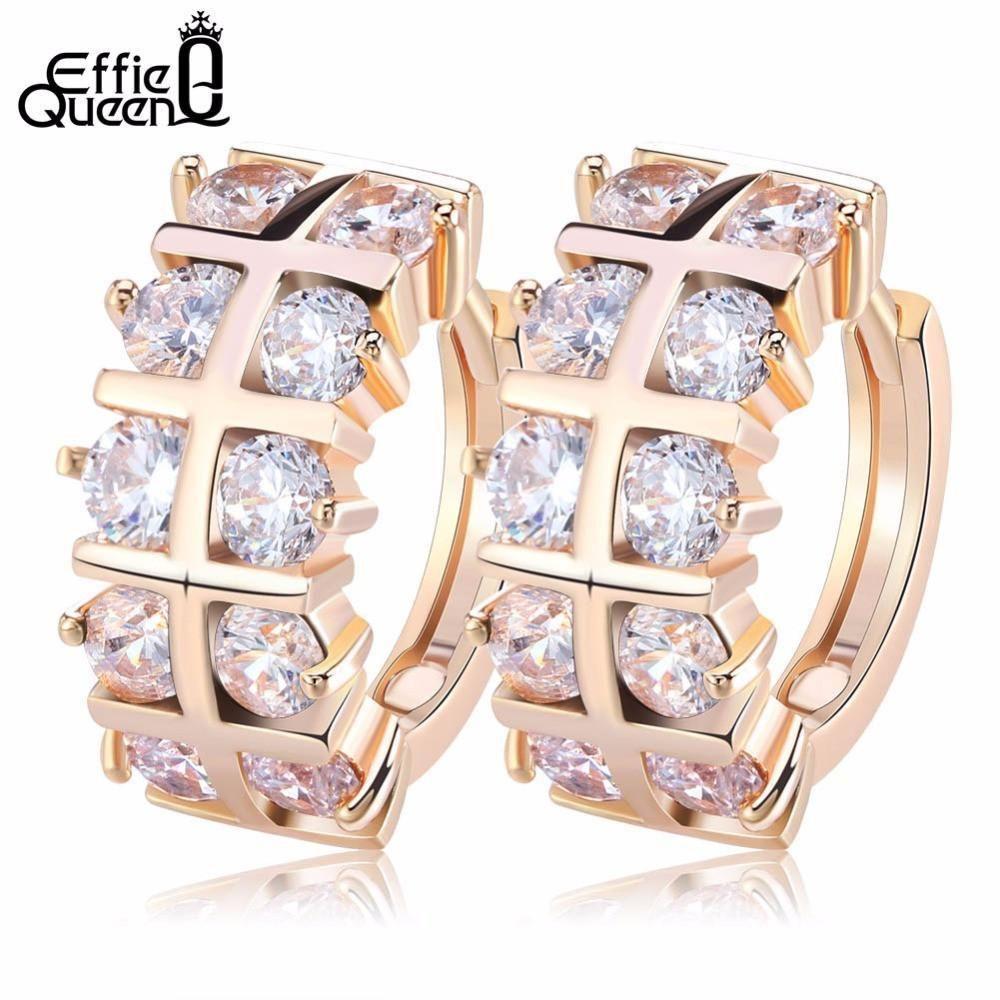 57c0c832d Effie Queen 2017 New Women Stud Earrings Jewelry Luxury Gold-color AAA  Cubic Zircon. Earring Type  Stud EarringsItem Type  EarringsFine or Fashion   ...