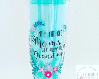 Moms/Grandma/Abuelita/Madre/Spanish/Promotion/Pregnant/Gift/Mother's Day/Tumbler/Skinny Tumbler/BPA Free/Drinkware/Waterbottle/Floral
