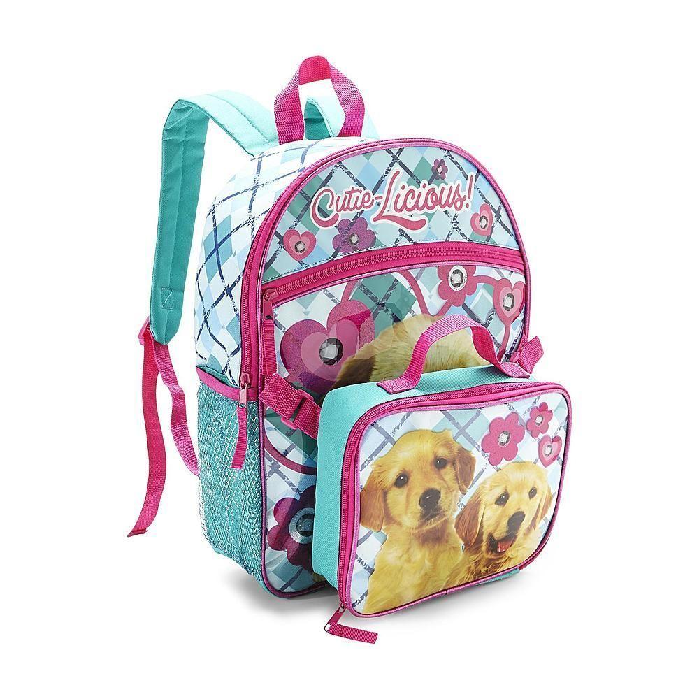 Backpack & Detachable Lunch Bag - Puppy Backpacks