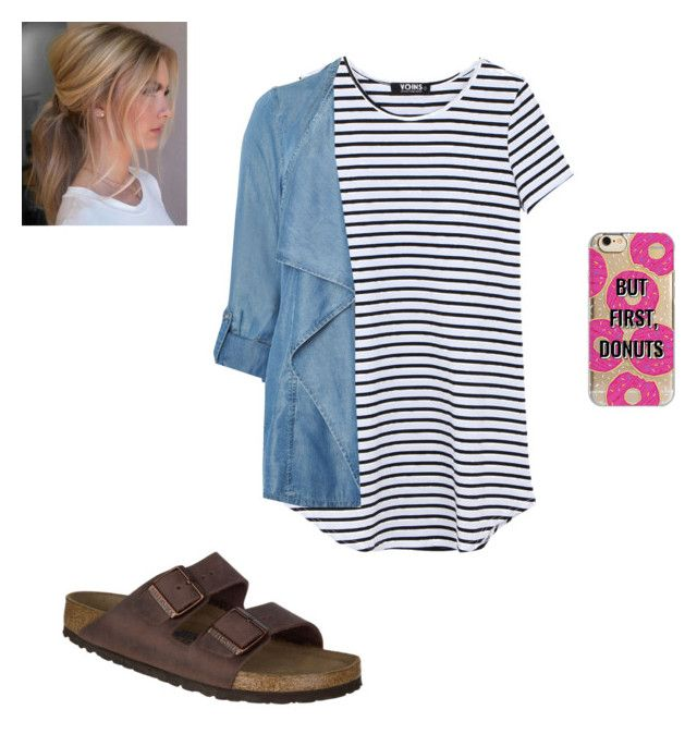 Donut Break by corwest on Polyvore featuring polyvore, fashion, style, Evans, Birkenstock, Agent 18 and clothing