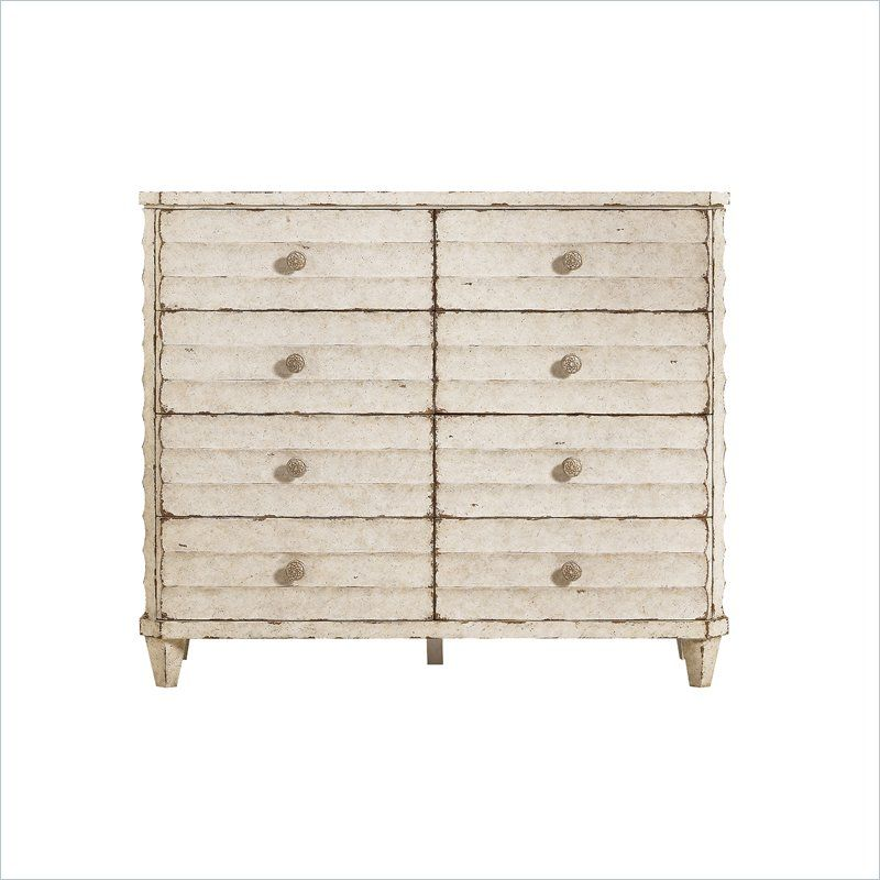 "Stanley - Archipelago-Ripple Cay Dressing Chest in Blanquilla Dimensions:	 47.25""H x 56.13""W x 19.5""D SKU:	186-23-06 Collection:	Archipelago Details:	Finish: Blanquilla  Eight drawers - See more at: http://www.stanleyfurniture.com/Archipelago-Ripple-Cay-Dressing-Chest-186-23-06.html#sthash.pWw5GV14.dpuf"