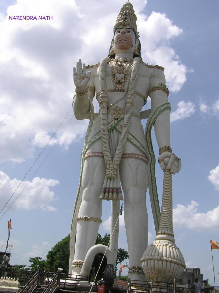 105 Feet Tall Mahabali Hanuman Statue Is Located At Nandura In