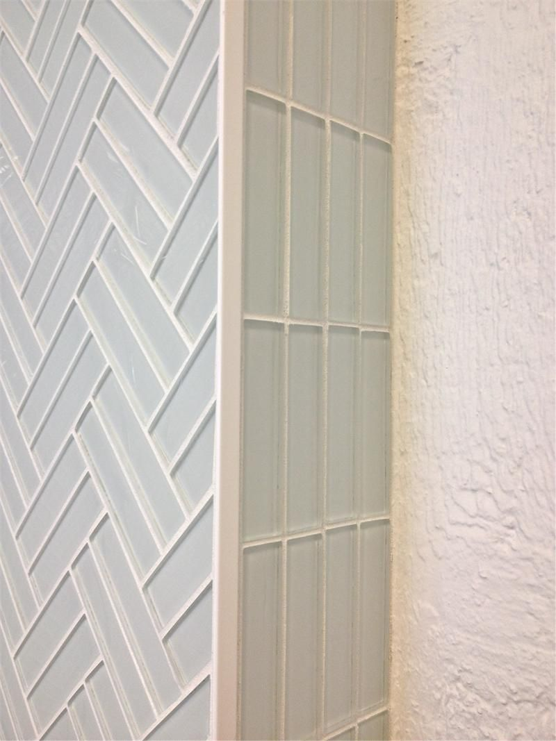 subway tile in cloud white modern weave pattern for kitchen