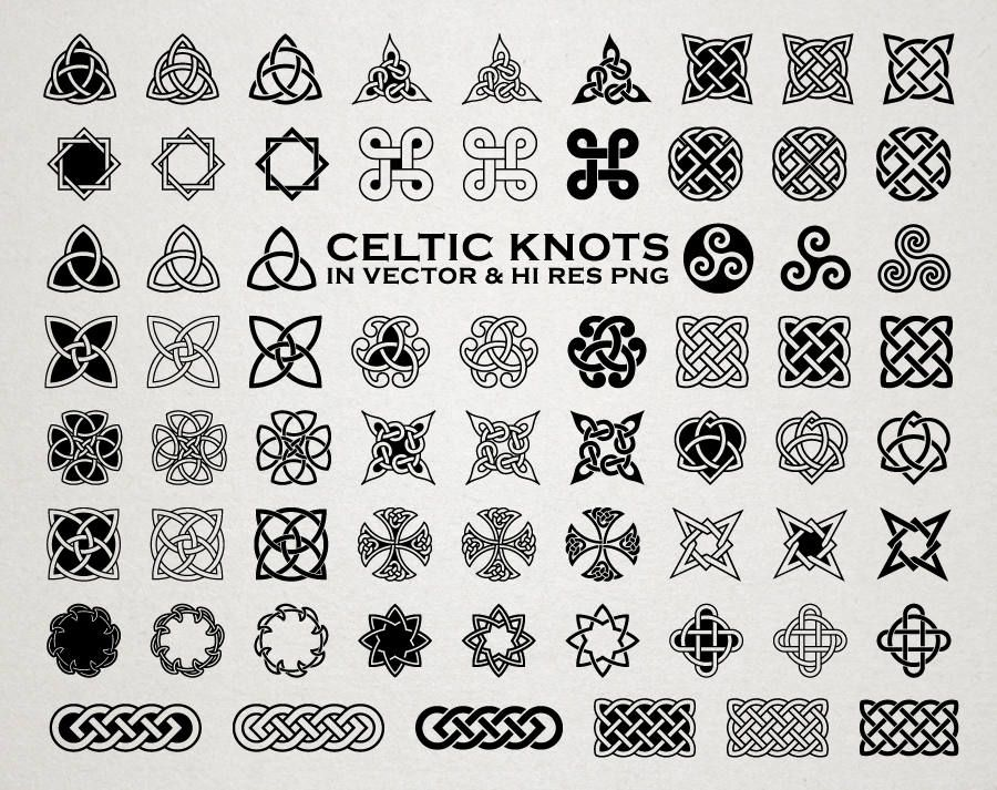 Celtic SVG Cut Files - Celtic Knots SVG Cut Files Celtic svg dxf eps png Celtic Tattoo SVG Cutfiles - Silhouette Cricut Transfer & other by seaquintdesign on Etsy