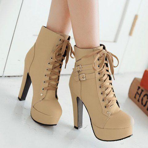 4 Colors Women/'s Punk Casual Platform Block Heel Ankle Boots Round Toe Shoes D