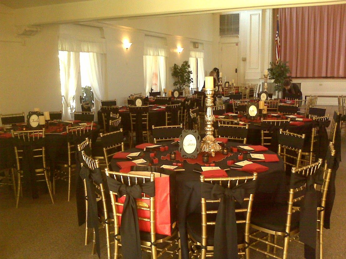 Superb Gold Chiavaris With Black Sashes Chair Covers Clearwater Home Interior And Landscaping Mentranervesignezvosmurscom