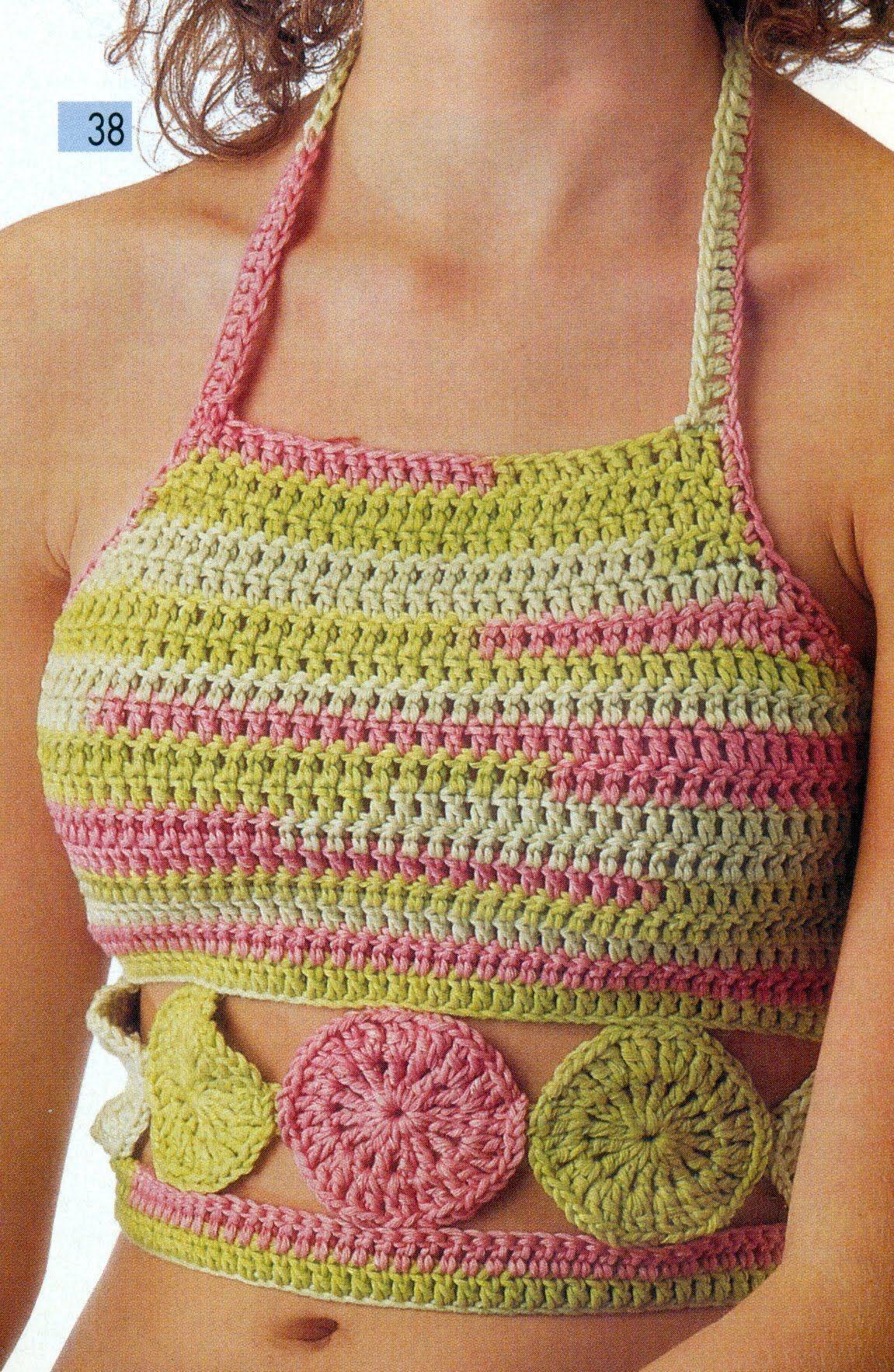 Esquemas Para Tejer Tops a Crochet y 2 Agujas   July   Pinterest ...