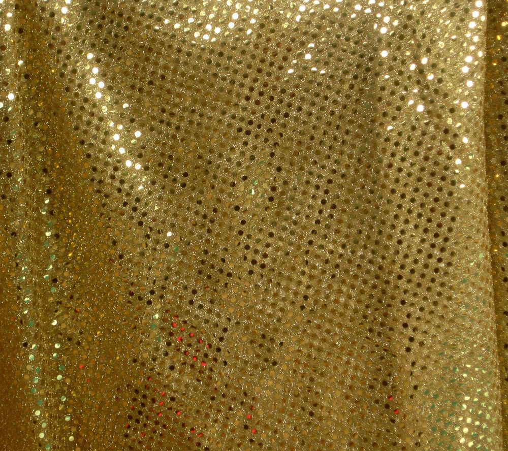 """1 YARD OF GOLD SEQUIN FABRIC 45"""" WIDE"""