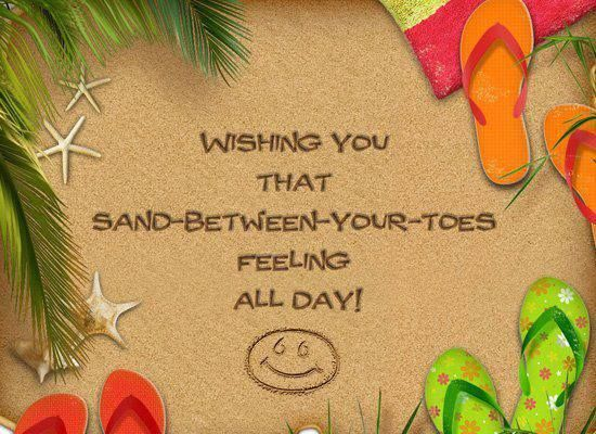 sand between your toes feeling