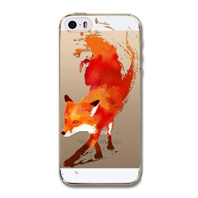 For iPhone 5s 5 SE Silicone Case Cover Fantasy Flower Animal Paint Transparent Clear Soft TPU Back Covers Cell Phone Funda Coque